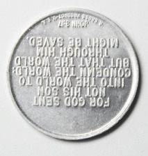 John 3:16 Aluminum Medal 29mm God Sent Not His Son to Condemn but Save
