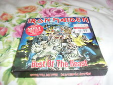 IRON MAIDEN -THE BEST OF THE BEAST- VERY HARD TO FIND ORIGINAL UK PRESS X2 EX
