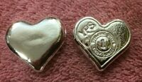 "1 oz Hand Poured 999 Silver Bullion Bar ""Heart"" by YPS - Yeager's Poured Silver"
