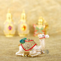Handmade Crystal Metal Camel Jewelry Trinket Box Birthday Gift Ornament Decor