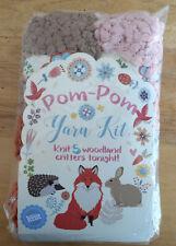 Let's Knit Kit 5 Woodland Critters To Knit Tonight Pom-Pom Yarn Toy Patterns New