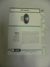 Vintage Original Altec 401B Loudspeaker Speaker Spec Sheet (A3)