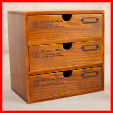 French Provincial Timber Pigeon Hole Mounted Chest of 3 Drawers Storage A53