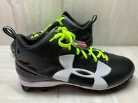Under Armour Mens Crusher RM Football Cleats 1286600-001 Black Mens Size 16