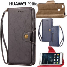For Huawei P9 Lite Executive Leather Flip Stand Wallet Case Cover Skin Protector