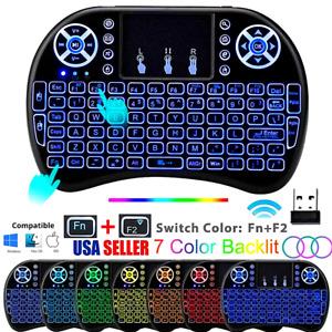 Teclado Inalambrico Keyboard Wireless Tactil Raton Para Laptop PC Retroiluminado