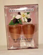 Bath & Body Works 2 bulb wallflowers home fragrance Black Raspberry Vanilla