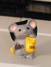1989 Hallmark Halloween Merry Miniature Mouse Witch #Qfm1572
