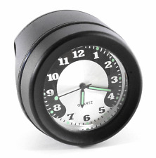 Lenkeruhr 1-1/4 32mm Metall Schwarz Big Motorrad Uhr großes Zifferblatt f Harley