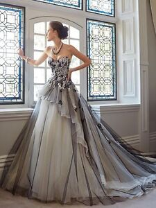 Mysterious Wedding Dress Bridal Gown Ball Party Prom Pageant Plus-Size Custom