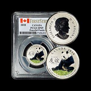2018 Canada 8 Dollars (Silver) - PCGS SP 69 - Peaceful Panda Specimen