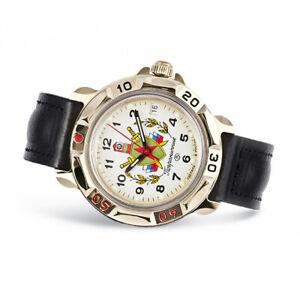 Vostok Komandirskie 819878 Russische Uhr Leder Armband mit Handaufzug Kal 2414A