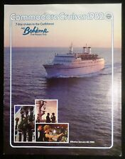 ms Boheme . Commodore Cruise Line 1982 Brochure Deck Plan Ship Boat Ocean Liner