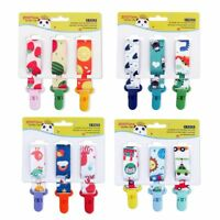 Dummy Clips Baby Pacifier Clips Holder Straps for Girls Plastic Teething Clips