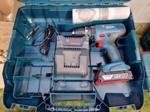 Bosch Professional Akku-Schlagbohrmaschine GSB18V-21 + 1 x 2,0 Ah Akkus + L-Case