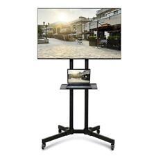 Adjustable TV Stand Mobile Cart Mount Wheels for 32 37 42 46 47 50 55 60 65 70