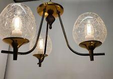 Vintage Art Deco Ceiling Light Chandelier Brass Eames Era Mid Century Modern