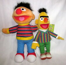 BURT AND ERNIE PLUSH FIGURES SESAME STREET DOLLS ROOMMATES CHILDREN