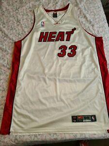 Nike DriFit Miami Heat Authentic Jersey Alonzo Mourning vintage OG 56 3XL RARE