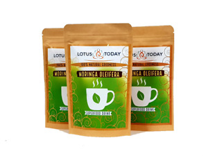 3 PACKS MORINGA HERBAL TEA 100% Fresh Green TEA FOR ENERGY, SEX DRIVE, MOOD LIFT