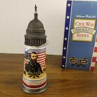 Anheuser Busch Civil War Commemorative Series Ulysses S. Grant Lidded Stein 1992
