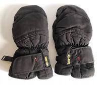 ZANIER KIDS' GORE-TEX BLACK SKI MITTENS Age 10-11 Size Junior M/5 Snow Gloves