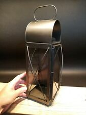Antique Style Tin Glass Wall or table Colonial Candle Lantern