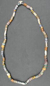 Ancien collier Africain perles de troc pate de verre Murano