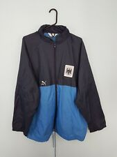 VTG BLUE PUMA BRIGHT BOLD ZIPUP ATHLETIC SPORTS OUTDOOR RAIN JACKET CAGOULE XL