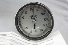 "Bimetal Thermometer 3"" Dial -40 to 160F Dwyer BT20S34541"