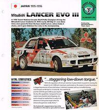 1995 / 1996 MITSUBISHI LANCER Rally EVO III IMP Brochure