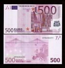 European Union 500 Euros,Austria Europe 2002 N Pfx Series Sign.M.Draghi Unc Note