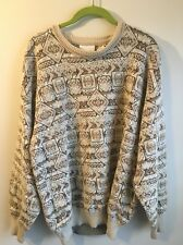 Vintage Gabicci Sweater Golfer Large L Italy Aztec 1980s Tacky Hipster