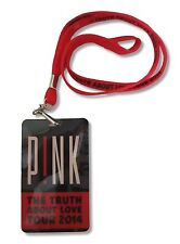 PINK P!NK THE TRUTH ABOUT LOVE 2014 TOUR LAMINATE & LANYARD NEW OFFICIAL SINGER