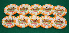 $10,000 Pro Vegas Casino Chips Super High Quality Poker Chips 11.5 Grams Qty: 10