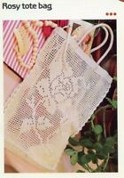 Cluster Tote Bag for Beach Gym Vanna NEW Crochet Pattern Leaflet