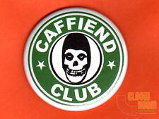 "One 2.25"" round Misfits Caffiend Club fridge/locker magnet punk horror Starbucks"