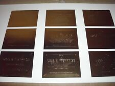 STAR TREK 30 YEARS: PHASE 1 SKYBOX UNCUT SHEET OF GOLD REGISTRY CARDS