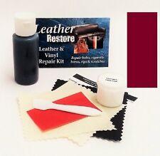 Air Dry Leather & Vinyl Repair Kit BURGUNDY Color Repair Recolor & Restore
