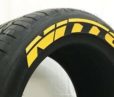 """Tyre Lettering (Permanent Raised Rubber Letters) - Nitto 1"""" (YELLOW)"""