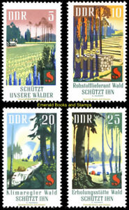 EBS East Germany DDR 1969 Forest Protection - Waldschutz Michel 1462-1465 MNH**