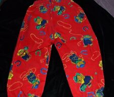 Vtg WESTERN Style Boys Pull-On Pants TEDDY BEAR COWBOY HORSESHOES sz 12 months