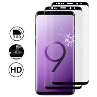 """2X Schutzglas Für Samsung Galaxy S9 5.8"""" Schutzfolie Komplett Rand Wölbung"""
