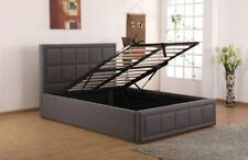 Sweet Dreams Sia Small Double 120cm 4FT Grey Fabric Ottoman Storage Bed Frame
