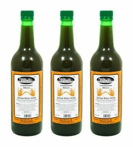 (Pack of 3) Fieldsway Constitution Bitters (Herbal Bitter Drink) - 750ml