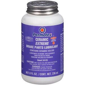 Permatex 24125 Silicone Paste For Brake High Temp Copper Anti Seize 8 oz/256 ml