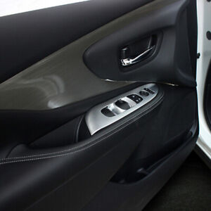 For Nissan Murano 2015-2018 Matte Inner Door Armrest Window Button Cover Trim