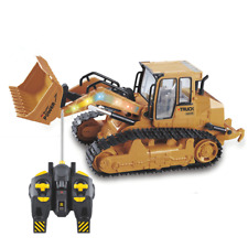 RC Truck 6CH Bulldozer Caterpillar Track Remote Control Engineering Construction