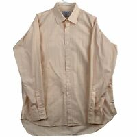 Charles Tyrwhitt Mens Size 17 Classic Fit Button Down Shirt Long Sleeve Plaid