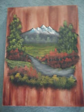 """Bob Ross Technique Oil Painting 18""""x24"""" Gallery Canvas Looks Like Wood."""